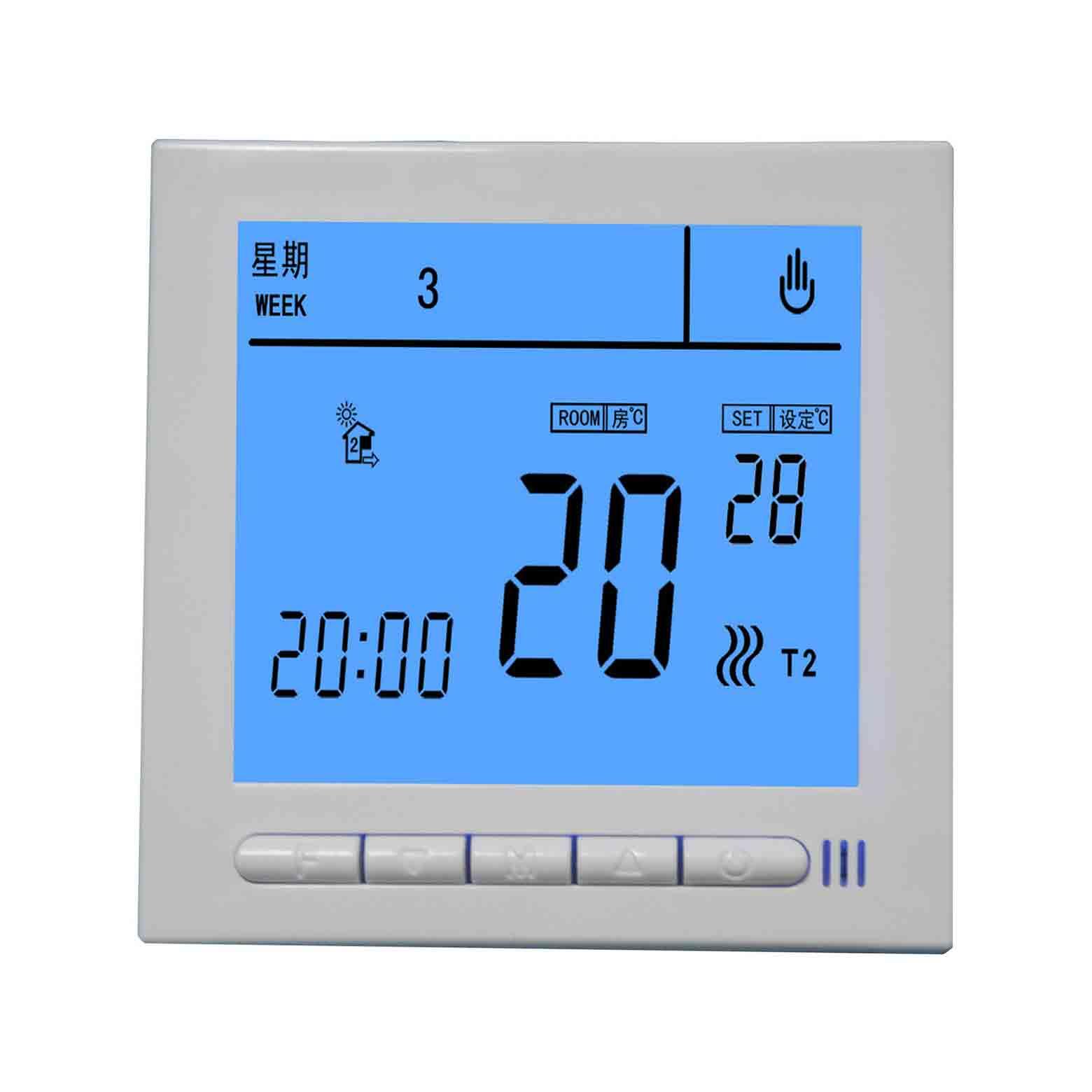 YKC3039系列双显超大液晶屏可编程发热电缆、散热器温控器