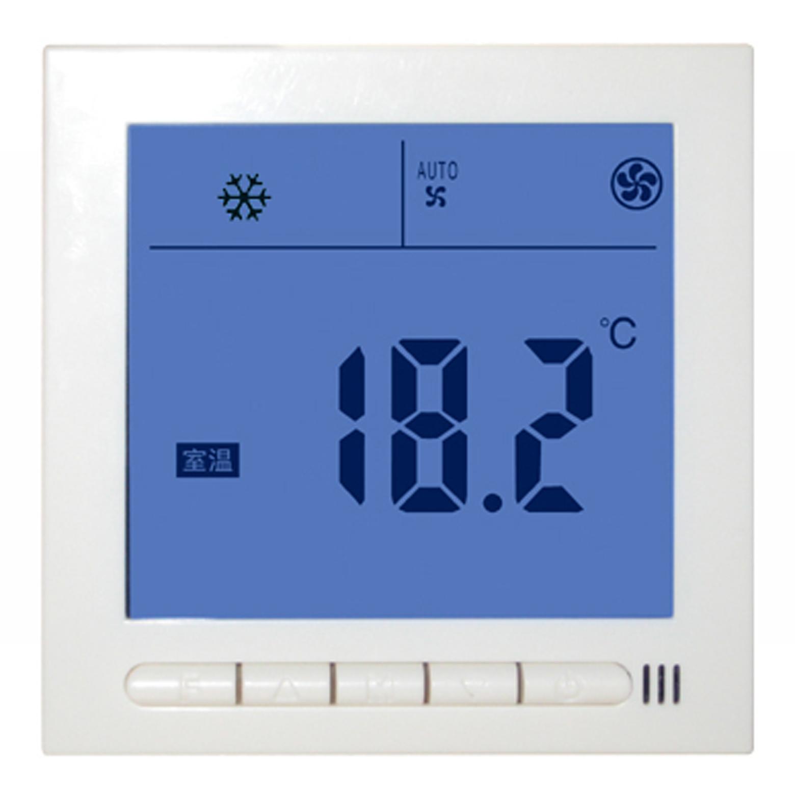 YKC3010单显亿科成超大液晶风机盘管温度控制器